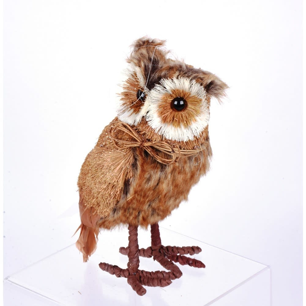 "10"" Standing Rustic Sisal Owl"