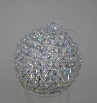 "4"" Iced Crystal Ball Ornament"