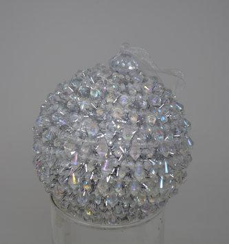 """4"""" Iced Crystal Ball Ornament"""