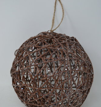 "8"" Shimmer Vine Ball Ornament"