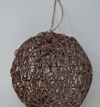 """8"""" Shimmer Vine Ball Ornament"""