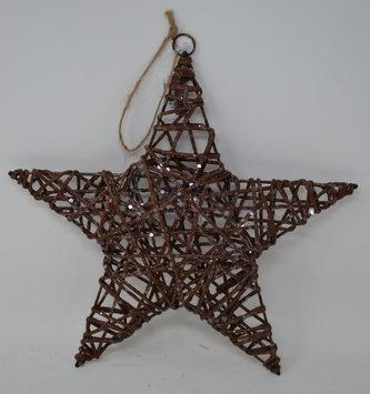 """10"""" Shimmer Vine Star Ornament"""