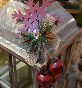 Snowflake Holiday Bell Drop Ornament