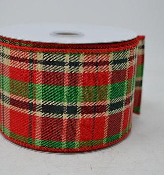 Country Christmas Plaid Ribbon