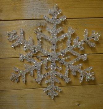 "10"" Iced Sequin Snowflake Ornament"