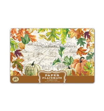 Fall Harvest Paper Placemats
