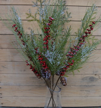 Wispy Cedar Pine Berry Spray