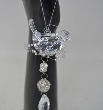"6.5"" Acrylic Bird Drop Ornament"