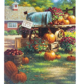 LED Tabletop Pumpkin Harvest Canvas