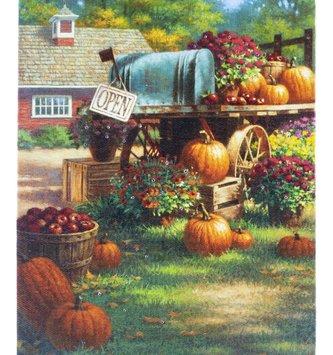 LED Tabletop Pumpkin Harvest Canvas