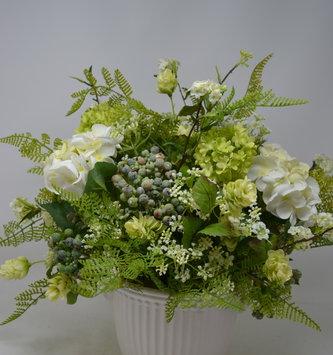 Custom Lace Hydrangea Arrangement