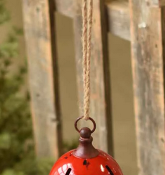 Round Red Jingle Bell (2 Sizes)