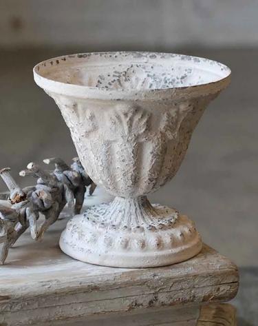Vintage Distressed White Urn