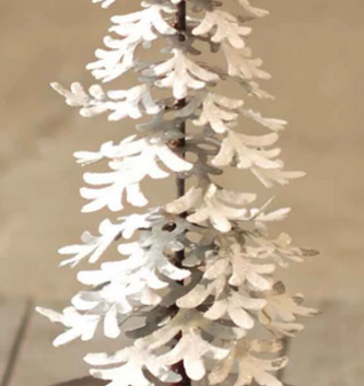 Metal Snowy Christmas Tree (2 Sizes)