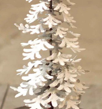 Metal Snowy Christmas Tree (2 Sizes)