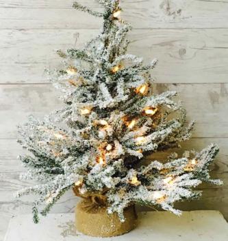 Pre-Lit Snowy Pine Christmas Tree (2 Sizes)