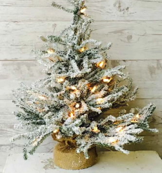 Pre-Lit Snowy Pine Christmas Tree (2 Sizes)