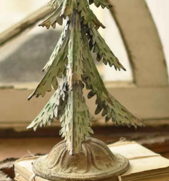 Galvanized Green Tipped Christmas Tree