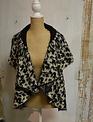 Leopard Knit Swing Vest