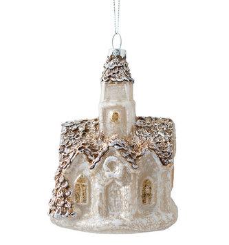 Mercury Glass Church Ornament