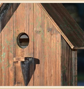 Distressed Wall Bird House