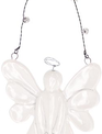 White Ceramic Angel Ornament w/ Bells