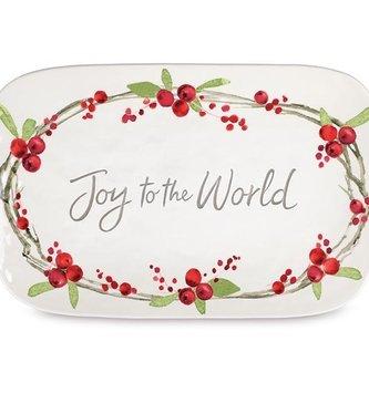 Joy to the World Ceramic Platter