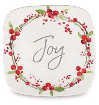 Ceramic Berry Garland Joy Plate