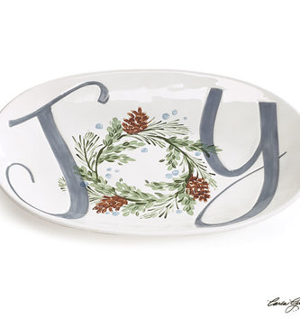 Ceramic Boxwood Joy Platter