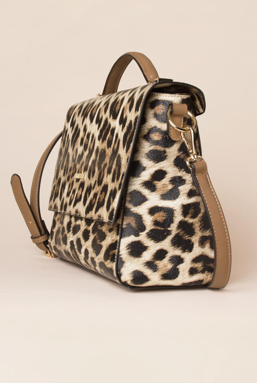 Simply Noelle Textured Leopard Print Shoulder Bag