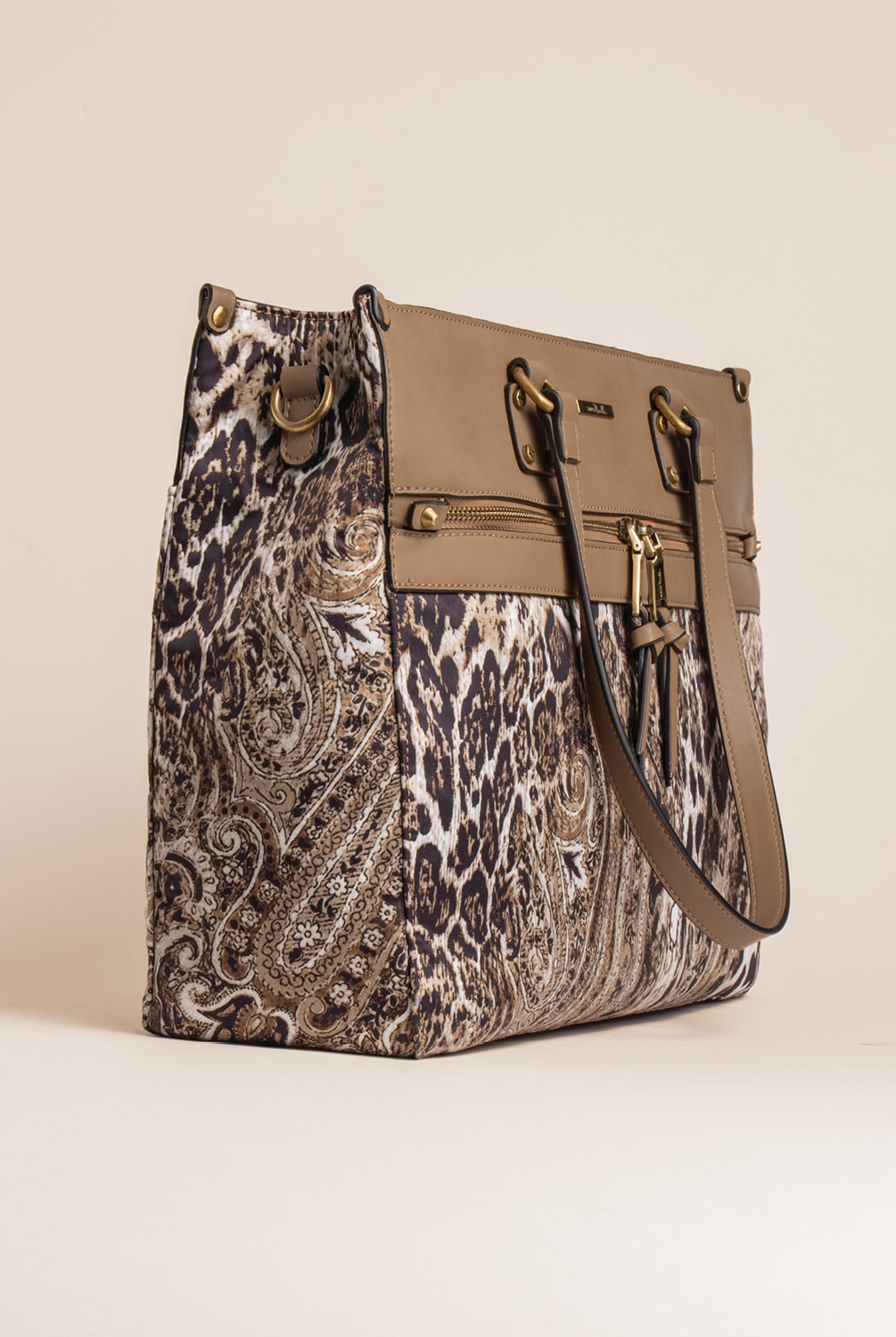 Simply Noelle Paisley Animal Print Travel Tote