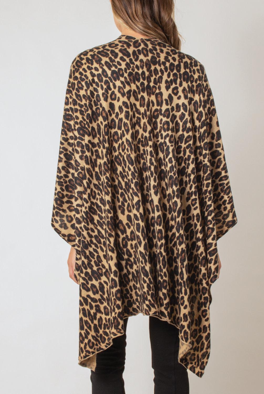 Simply Noelle Leopard Print Bordeaux Cardi Wrap
