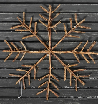 "13"" Natural Twig Snowflake"