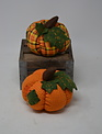 Small Patchwork Homespun Pumpkin