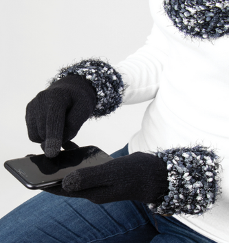 Simply Noelle Angel Hair Knubby Cuff Texting Gloves (2 Colors)