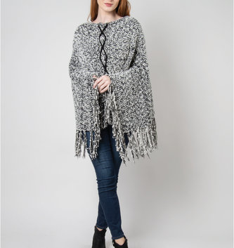 Simply Noelle Soft Knubby Knit Poncho (2 Colors)