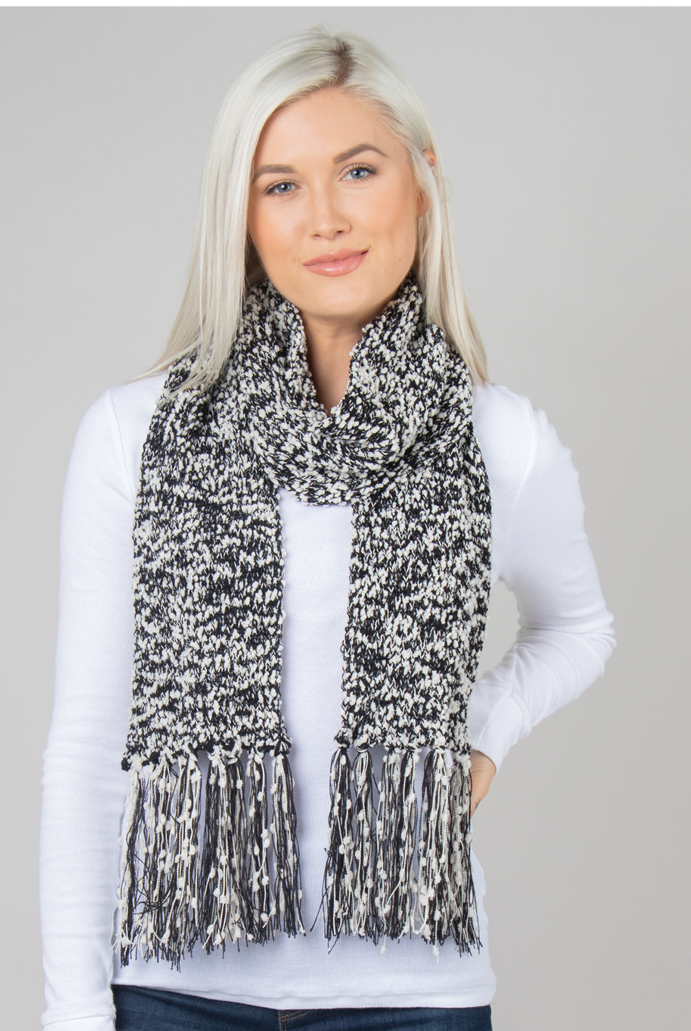 Simply Noelle Soft Knubby Straight Scarf
