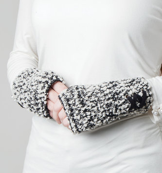 Simply Noelle 2-in-1 Soft Knubby Knit Gloves (2 Colors)
