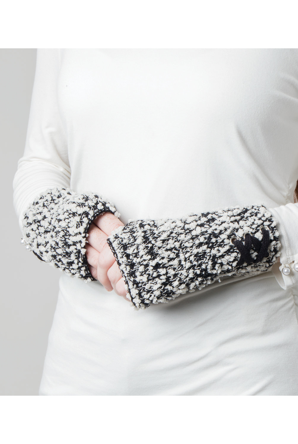 Simply Noelle 2-in-1 Soft Knubby Knit Gloves