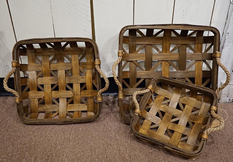Square Cedar Tobacco Basket