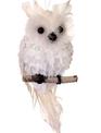 Snowy Owl on Perch Ornament