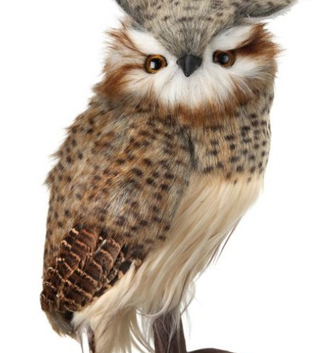"10.5"" Standing Speckled Hoot Owl"