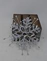 Silver Starburst Snowflake Ornament