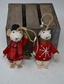 Cozy Cottage Mice Ornament Set