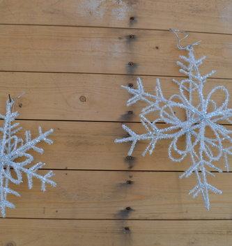 3D Shimmer Hanging Snowflake (2 Sizes)