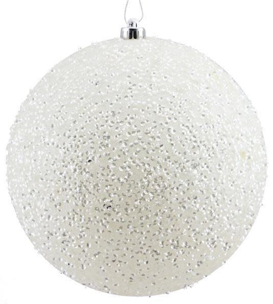 XL Sequin and Glitter Ball Ornament