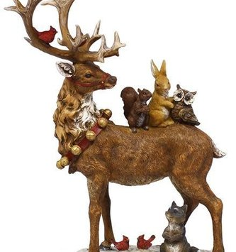 Reindeer with Forest Friends