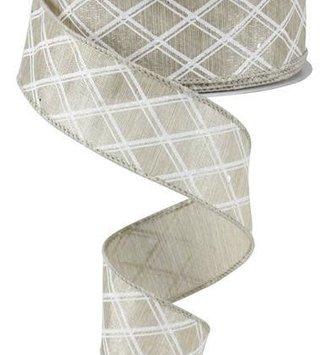Diamond Patterned Gray Ribbon