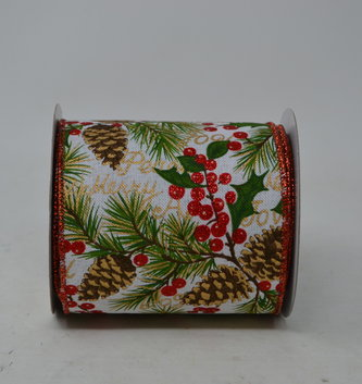 Pine and Holly Ribbon