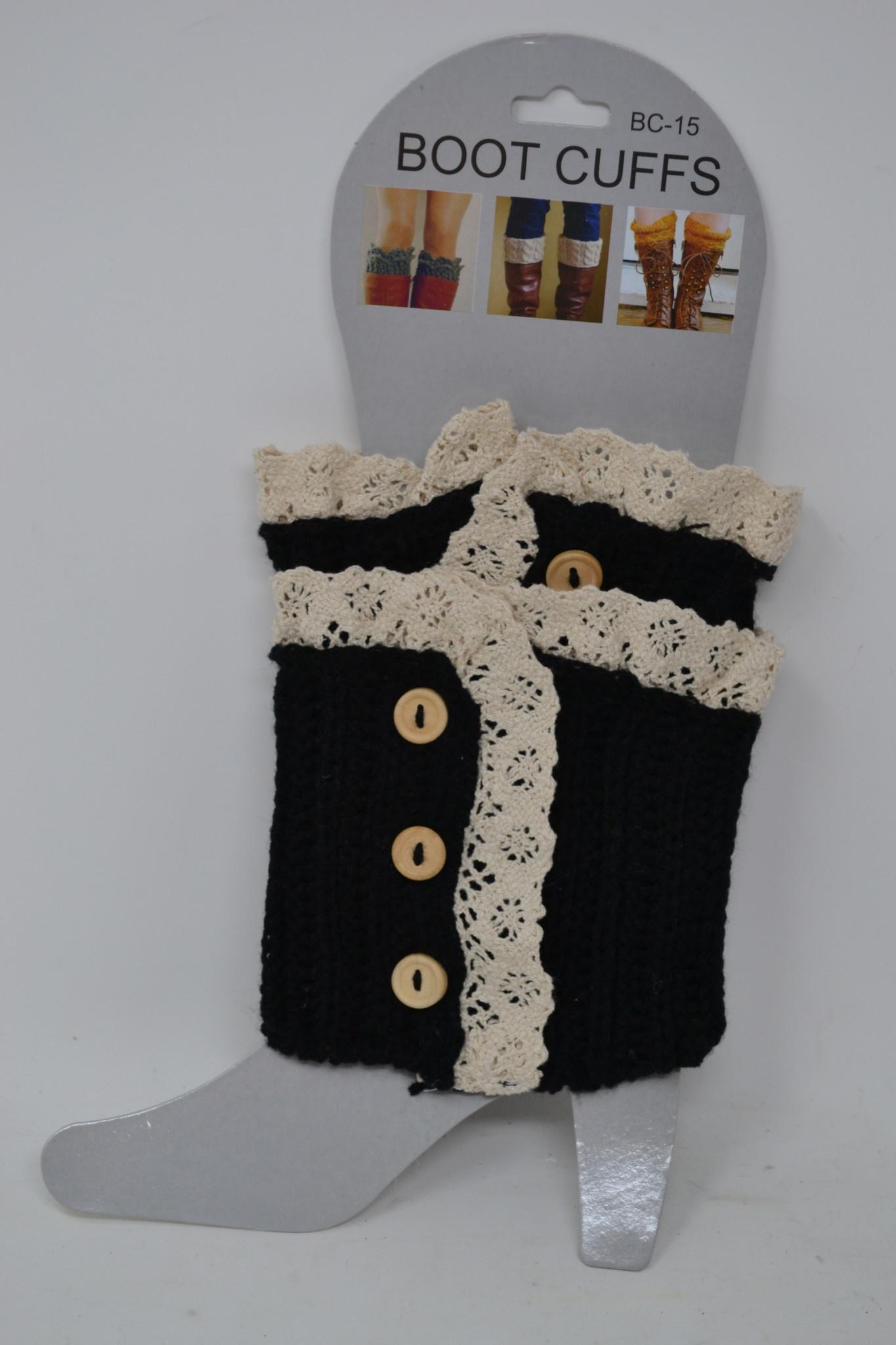 Button Lace Boot Cuff